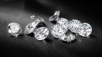 Brilliant diamonds jewelry macro monochrome wallpaper