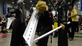 Cloud strife final fantasy vii advent children cosplay wallpaper