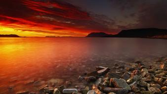 Hdr photography ocean rocks sunset Wallpaper