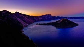 Hdr photography oregon usa crater lake islands wallpaper