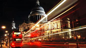 London bus cathedrals cities lights wallpaper