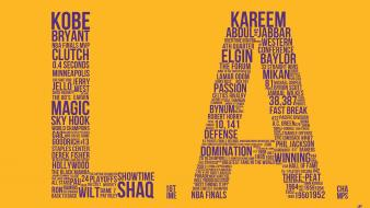 Los angeles lakers nba basketball sports typography Wallpaper