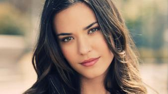 Odette annable brunettes depth of field eyes faces wallpaper