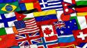 Multicolor world flags painted wallpaper