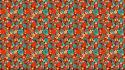 Pattern flowers wall exotic wallpaper