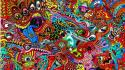 Drugs mess psychedelic acid colors Wallpaper