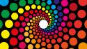 Abstract multicolor circles rainbows dots wallpaper
