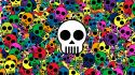 Skulls artwork style wallpaper