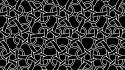 Abstract artwork black and white chains patterns wallpaper
